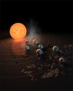 Nature Cover TRAPPIST 1 st